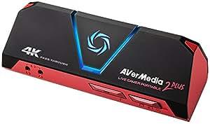 AVerMedia Live Gamer Portable 2 PLUS AVT-C878 PLUS [4Kパススルー対応 ゲームの録画・ライブ配信用キャプチャーデバイス] DV478