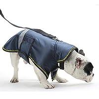【Realpet】ペット用品 犬の服 アウトドアジャケット 反射ストライプが付 防寒 防水 防風 小型 中型 大型犬 防災グッズ 避難グッズ 犬 服 通気 2色8サイズ選択可能 (ブルー 5XL)