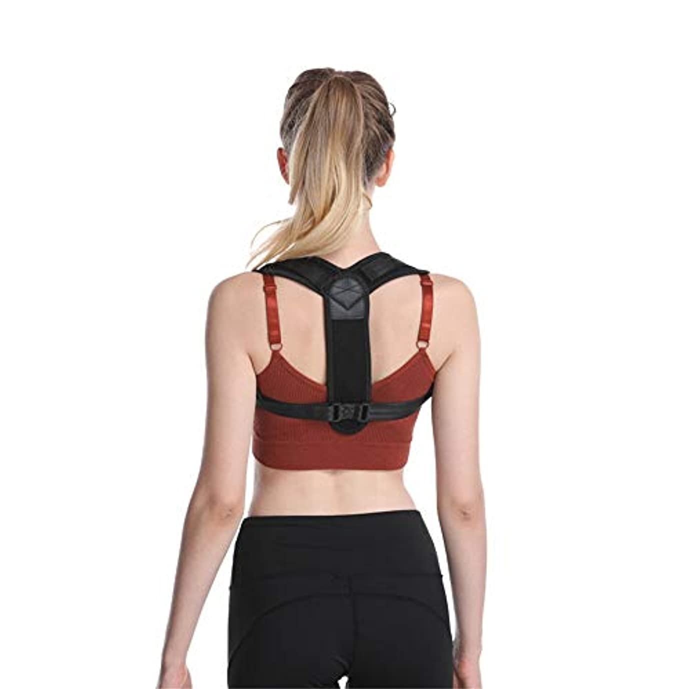 女性の男性のためのDAKIK姿勢補正 - 効果的で快適で調整可能な姿勢補正 - 姿勢サポート - バックブレース - Kyphosisブレース (色 : ブラック, サイズ : One size fits most)
