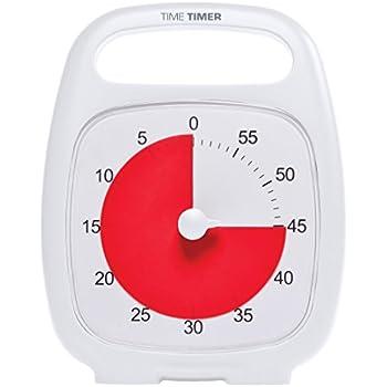 Time Timer® Time Timer PLUS ( White ) タイムタイマー プラス ( ホワイト ) 【 用途いろいろ タイマー アラーム 】 取っ手付 正規品
