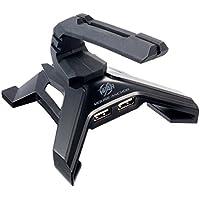 サンワダイレクト USBハブ付 マウスバンジー USB2.0ハブ 2ポート付 マウスケーブルホルダー…
