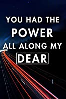 You Had The Power All Along My Dear: Blank Lined Journal Notebook, Size 6x9, Gift Idea for Women & Teen Girls, Employee, Coworker, Friends, Office, Gift Ideas, Familly, Entrepreneur: Cover 10, New Year Resolutions & Goals, Christmas, Birthday