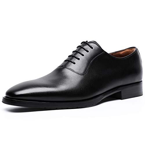 [フォクスセンス] ビジネスシューズ 本革 革靴 紳士靴 メンズ ドレスシューズ 本革 プレーントゥ 内羽根 ブラック 25.5cm 8710-21