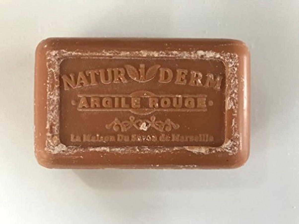 ピットつかむ伝統Savon de Marseille Naturiderm Soap Red Clay 125g
