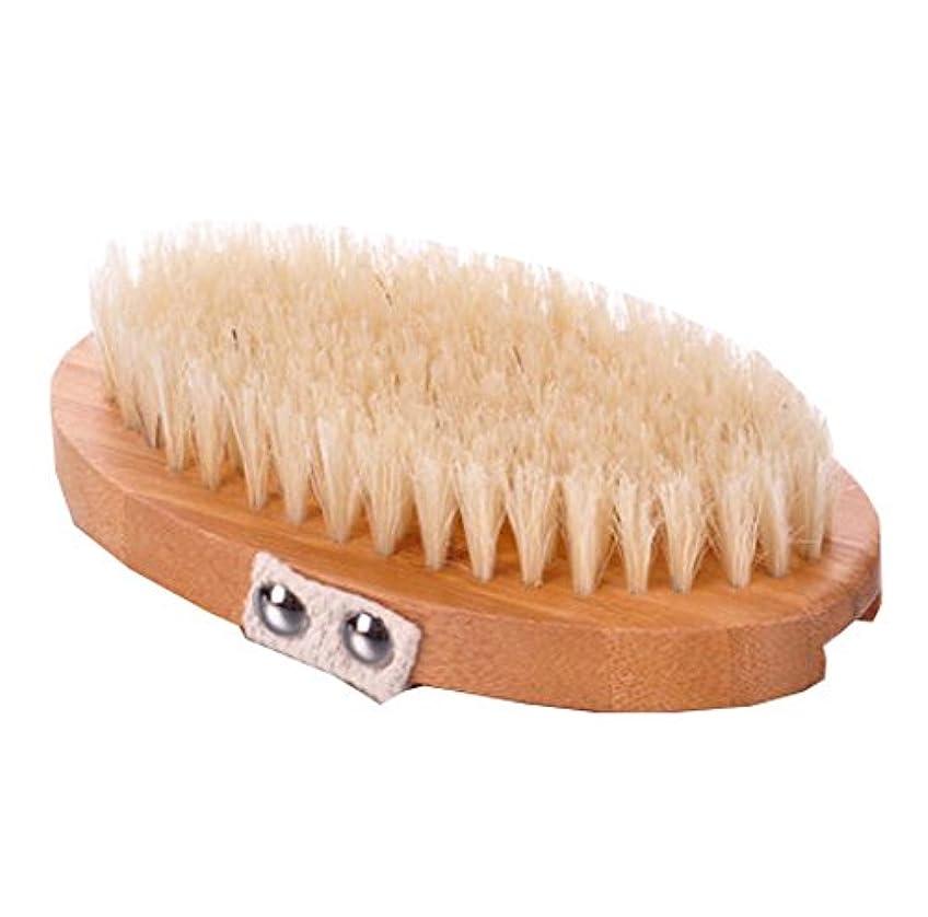 一時停止行商湿度スキンボディブラシ - スキンケアの健康と美容を改善する - ナチュラルブリストル、A2