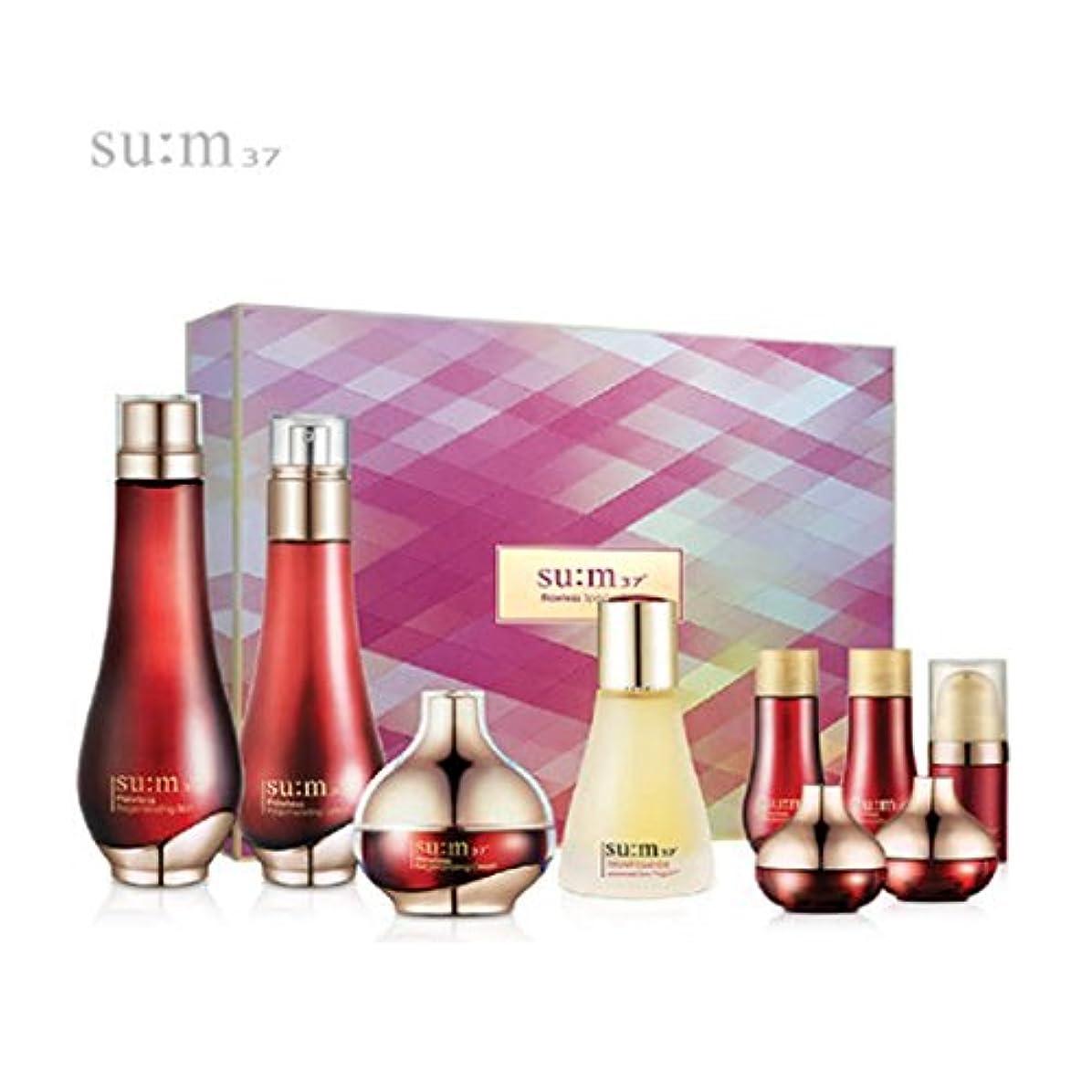 手裏切る指[su:m37/スム37°]Flawless 3pcs Special Limited Skincare Set/フローレス3種のスキンケアセット + [Sample Gift](海外直送品)