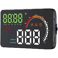 OBEST HUD ヘッドアップディスプレイ 車載スピードメーター GPSで連動、シガーソケット 時速をフロントガラスに 過速度警告搭載 すべての車対応