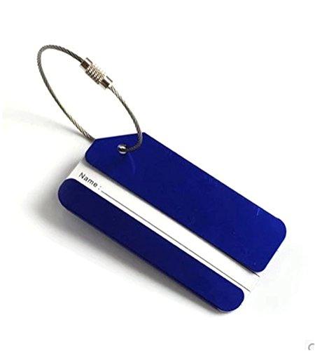 GADIEMENSS バッグ用ネームタグ バッグタグ はがきサイズ スタンプ ブルー荷物置き 青 海...