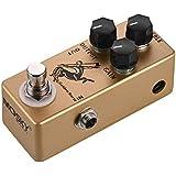 Muslady MOSKY ギターオーバードライブエフェクトペダル フルメタルシェル トゥルーバイパス Golden Horse (ゴールド)