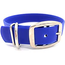 Furbaby Products Biothane Dog Collars, Dog Collar, Buy a Collar Help a Veteran. Weather and Waterproof Puppy and Dog Collar with Nickel Plated Finish for Large Dogs and XL Dogs (16.5-21 inches, Blue)