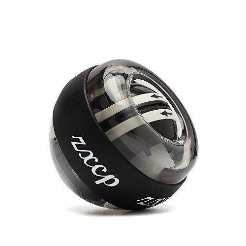 ZXCP オートスタート リストボール 2017年版 発光 自動回転 握力 筋力トレーニング リストボール リストトレーナー 手首強化 トレーニング 収納カバー付 (グレーとブラック)