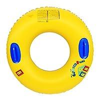 live forever浮き輪 大人用 便利な持ち手付き ジャンボ 浮き輪 使用時直径80cm (90#)