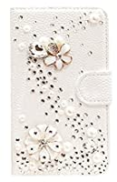 iPhone SE/iphon5s/iphon5 ケース メチャ可愛いアイフォンse /5s/5ケース スワロフスキ-ラインストーン デコ カードホルダー 手帳型 スマホ カバー タッチペンプレゼント(iPhone SE/iphon5s/iphon5, S花)