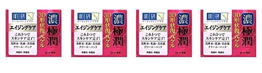 規制勝者デクリメント【まとめ買い】肌研 極潤 3D形状復元ゲル 100g×4個