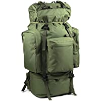 ALUA- Coco 100L Inner Frame Hiking Backpack, Lightweight Decompression Waterproof Outdoor Mountaineering Bag, Cycling Camping ski with rain Cover (Color : ArmyGreen)