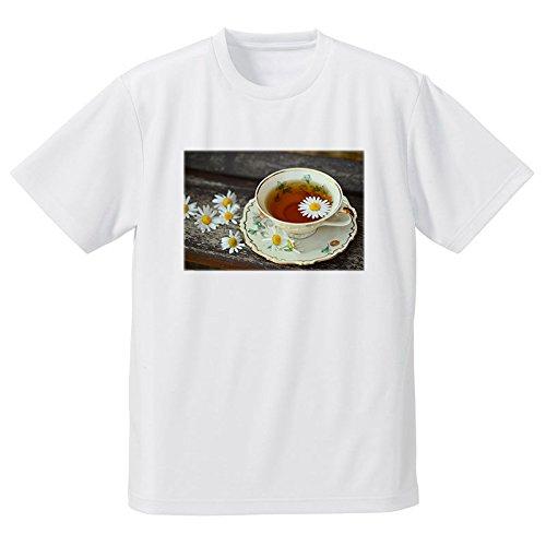 ティーカップ 紅茶 花 フォトプリントTシャツ...