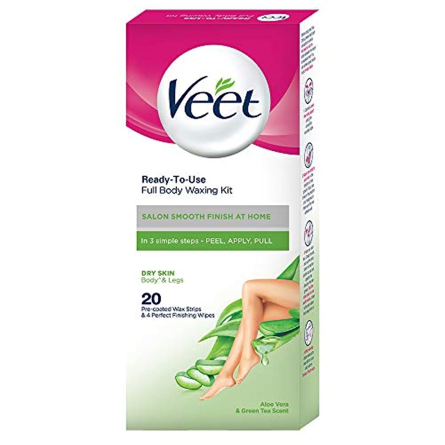 特性挑む緩めるVeet Full Body Waxing Kit for Dry Skin, 20 Strips
