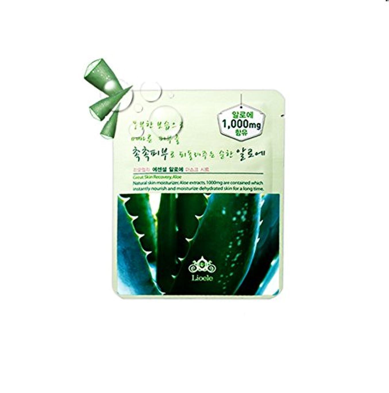 白内障リード王女Lioele (リオエリ) エッセンシャル マスク シート / Essential Mask Sheet (アロエ (Aloe Mask Sheet)) [並行輸入品]