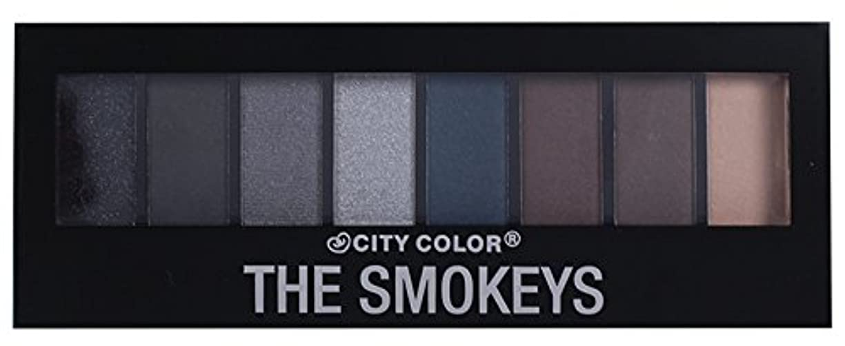 彫る内向き隠されたCITY COLOR The Smokeys Eyeshadow Palette (並行輸入品)