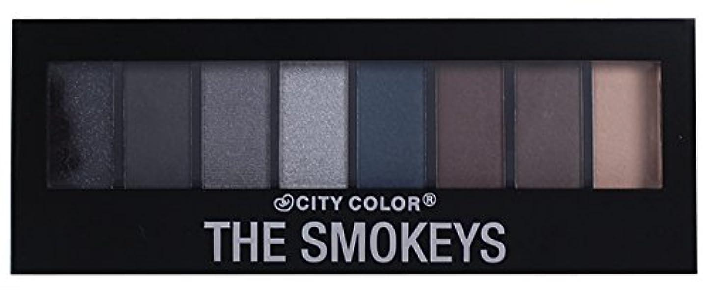 いつでも荒れ地条約CITY COLOR The Smokeys Eyeshadow Palette (並行輸入品)