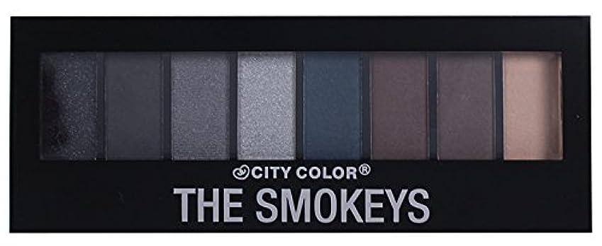 マイル誠実レオナルドダCITY COLOR The Smokeys Eyeshadow Palette (並行輸入品)