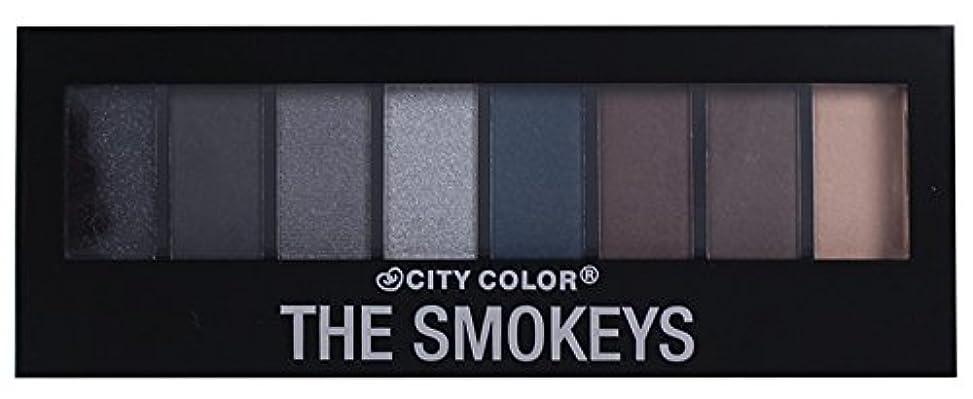 してはいけないあご柔らかいCITY COLOR The Smokeys Eyeshadow Palette (並行輸入品)