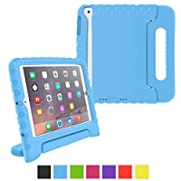 roocase Apple iPad Mini 3 (2014) Case - KidArmor Kid Proof EVA Series Shock Proof Convertible Handle with Kickstand Kids Friendly Protective Cover Case - Compatible with Mini 1 / 2, Blue