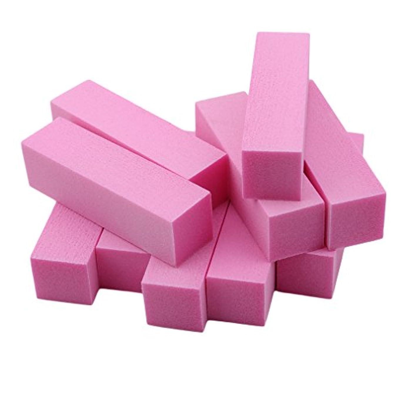 リフト非難体系的にJIOLK ブロックバッファー 爪磨き スポンジネイルファイル ジェルネイルバッファー 爪やすり 爪磨き 4面 10本セット ネイルケアセット ネイルケア やすり