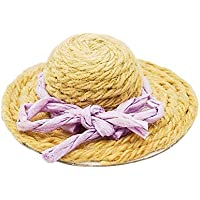【Odoria ミニチュア雜貨】1/12 かわいい 麦わら帽子 ドールハウス インテリア 贈り物