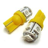 ナディア ポジション led t10 5灯 SMD ブドウ型 アンバー 2個セット スモール ポジション球
