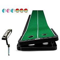 WENZHE ゴルフマット パターマット 練習器具 ネット 調節可能な スロープデザイン ポータブル パット トレーナー インドア アウトドア エクササイズ、 3のスタイル (色 : B, サイズ さいず : 300x53cm)