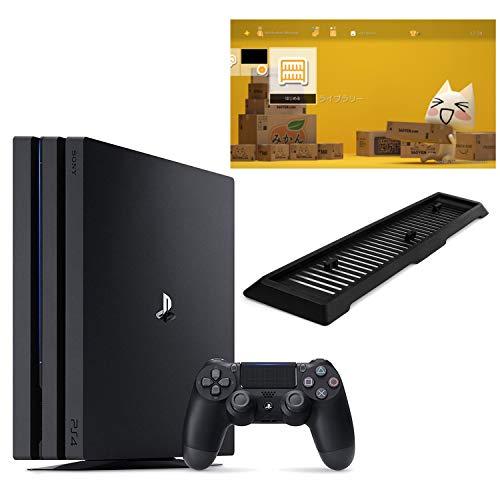 PlayStation 4 Pro ジェット・ブラック 1TB(CUH-7100BB01)【Amazon.co.jp限定】アンサー 縦置きスタンド付 & オリジナルカスタムテーマ (配信) 【メーカー生産終了】