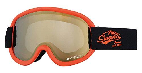 SWANS(スワンズ) ゴーグル スキー スノーボード 偏光レンズ ミラー ブイフォー V4-MPDH-C-LI OR オレンジ