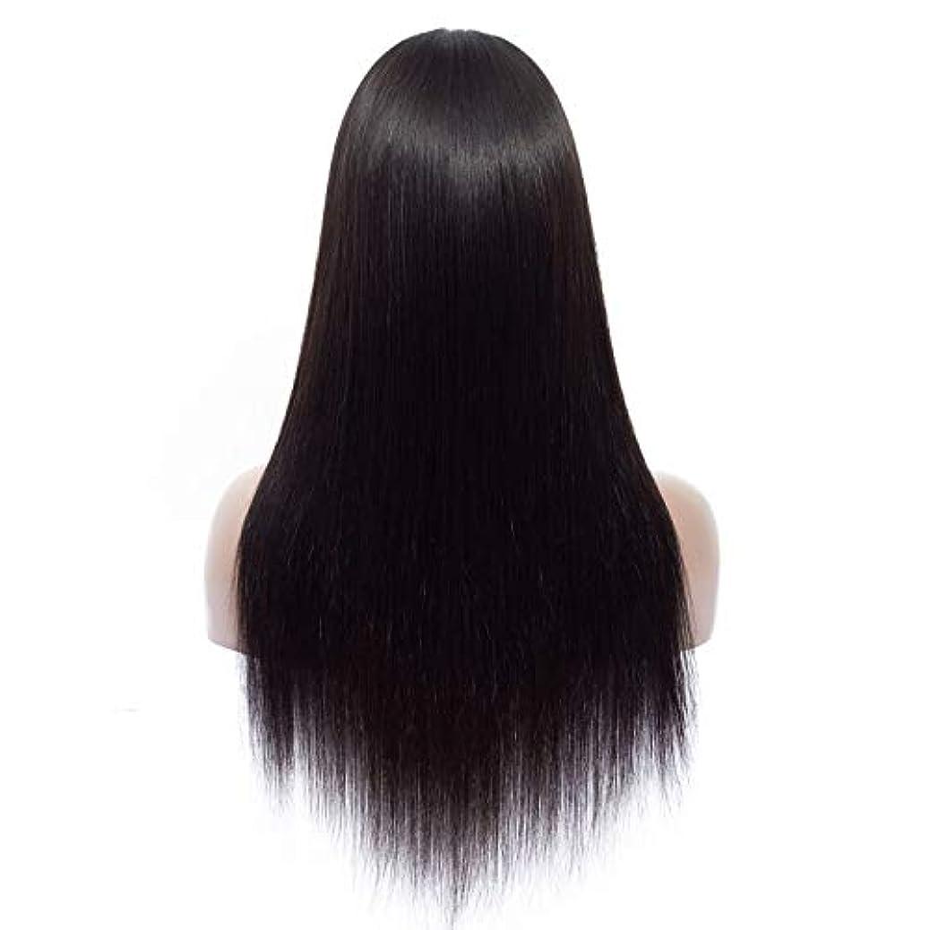 シェーバー修復水を飲むSRY-Wigファッション ヨーロッパとアメリカの黒の長い髪耐熱ストレートコスプレかつらコスプレ合成髪ウィッグ (Color : ブラック, Size : 16inch)