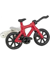 レッドブラックバイク自転車X Games Trick BMX Cufflinks Stunt +ボックスとクリーナー