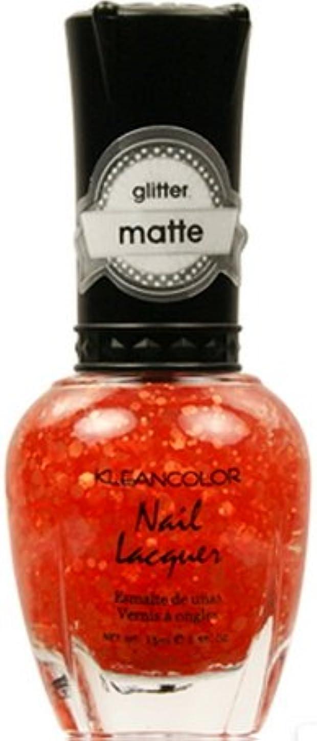 飼料亜熱帯焦げ(3 Pack) KLEANCOLOR Glitter Matte Nail Lacquer - Poppy Field (並行輸入品)
