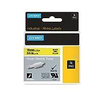 DYMO Industrial Heat Shrink Tubes for DYMO Industrial RhinoPro Label Makers Black on Yellow 3/4 (18058) [並行輸入品]