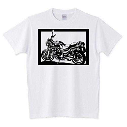 切り紙屋 メンズ 切り絵Tシャツ (半袖) ホンダ(HONDA) X4 XL ホワイト