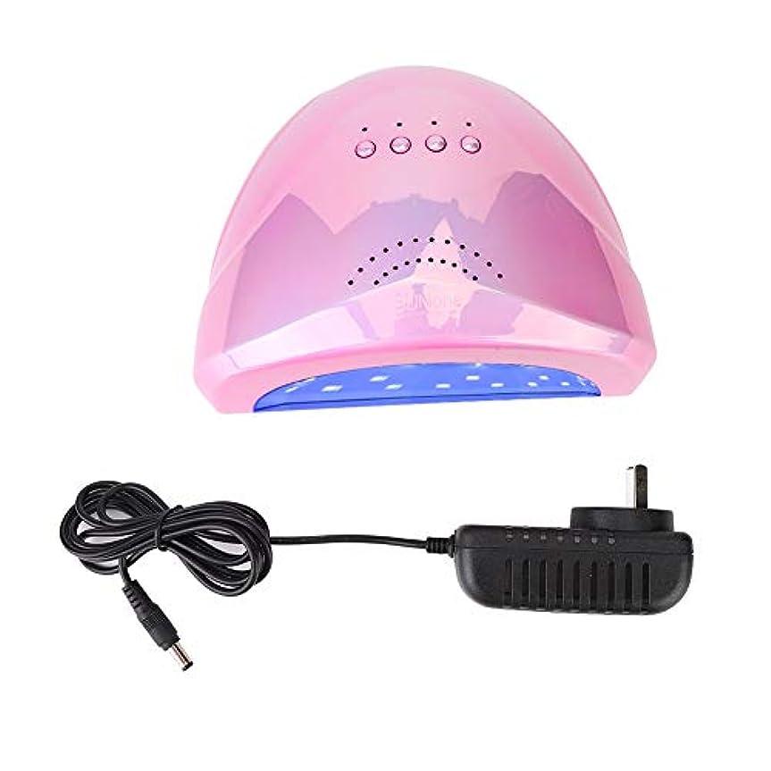 コテージ政治家のステートメントネイルランプ 紫外線 UV+LED 48W ネイルドライヤー 30個LEDライト 自動センサー タイマー付き UV LEDネイルランプ 硬化ネイルアートツール マニキュア (02)