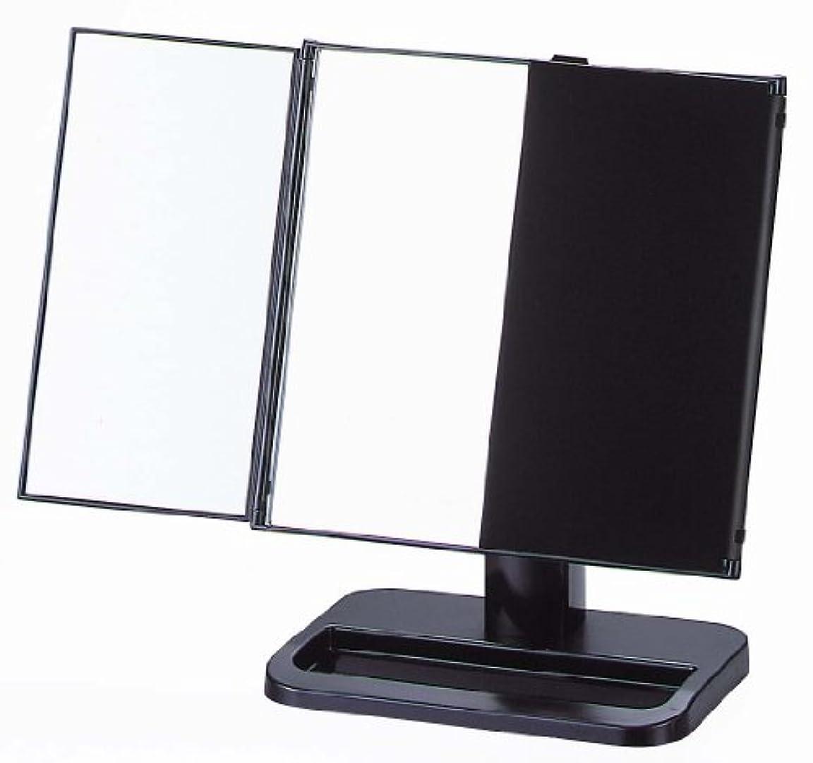 市場ブラザーテレビを見るヤマムラ 三面鏡 ブラック 日本製 S-888