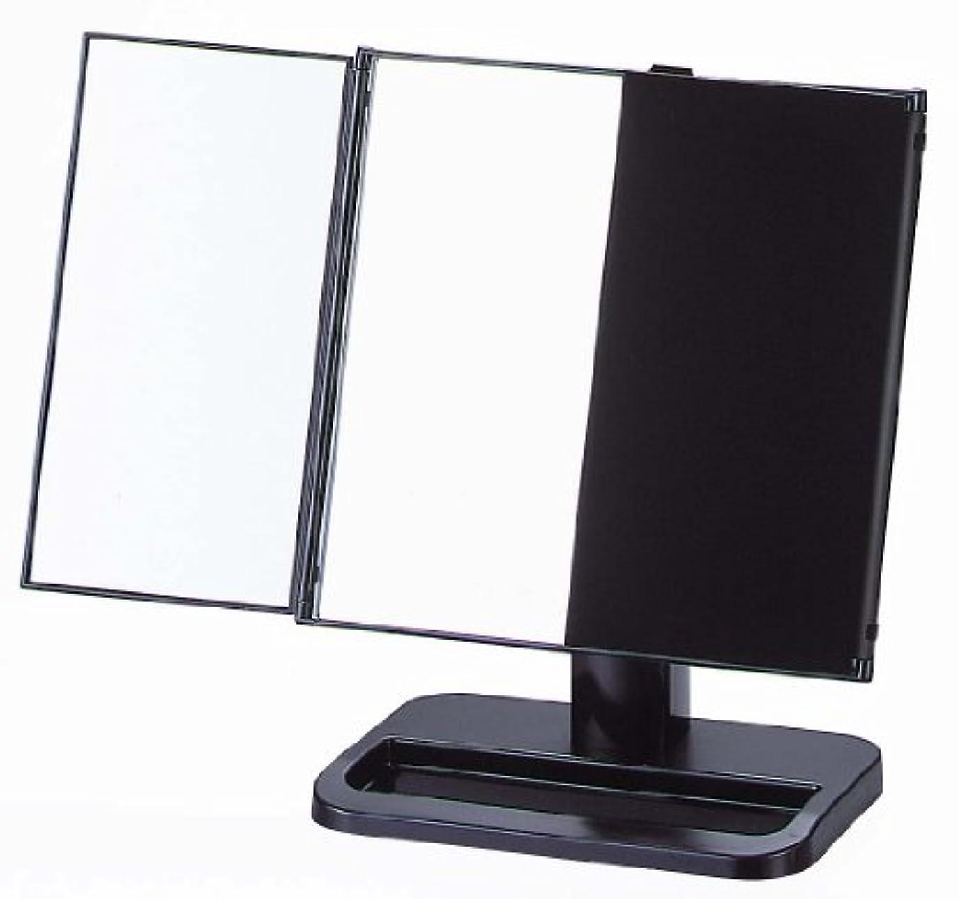 どんよりした促すクリップ蝶ヤマムラ 三面鏡 ブラック 日本製 S-888