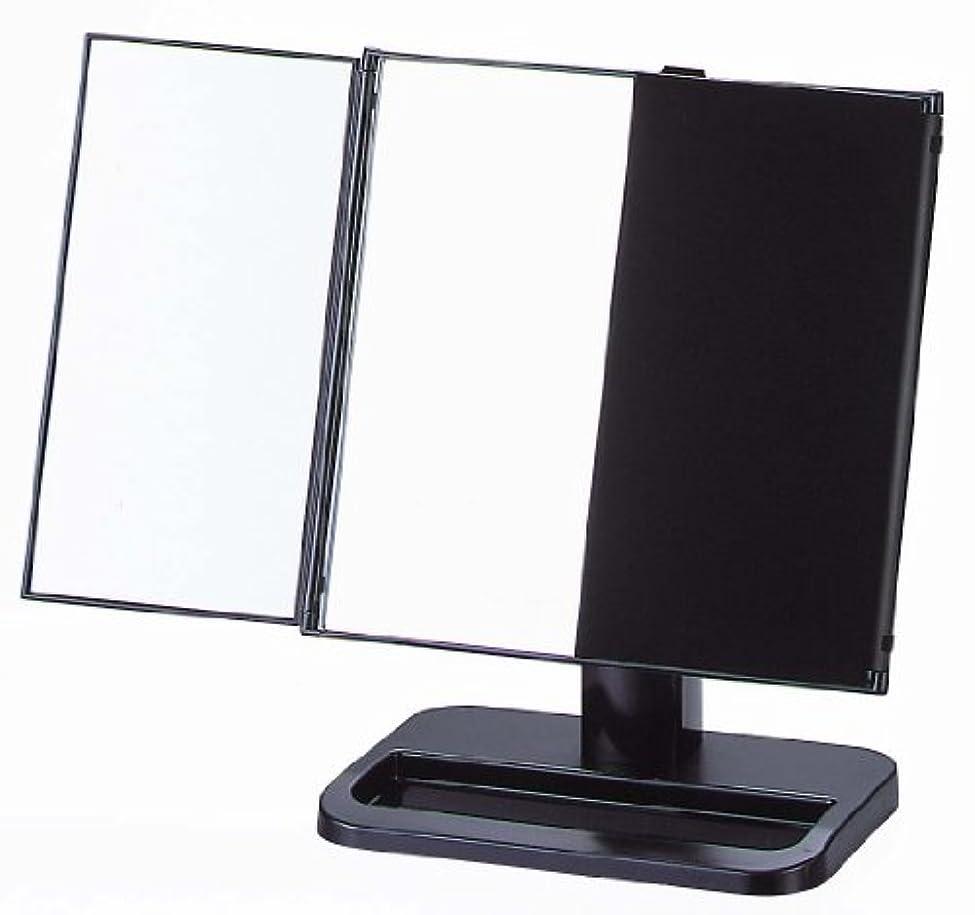 非常に民主党完璧ヤマムラ 三面鏡 ブラック 日本製 S-888