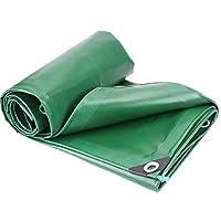 ANUO 防水ターポリン 厚いPVCターポリン防雨サンシェード防炎断熱キャンバス 防雨布 (Color : Green, Size : 13.2x19.8ft/4x6m)