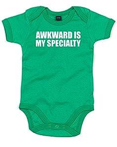 (不器用なのが私の特技。) Awkward Is My Specialty, プリント ベビースーツ - グリーン/白 12-18 ヶ月