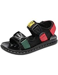 COMVIP キーズ カジュアル 軽量 柔らかい シューズ シンプル ビーチ用靴 プレゼント 滑り止め 通気 普段用 夏 歩きやすい 通学 ブラック