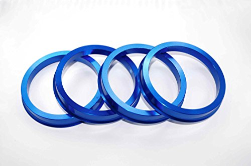 VW アウディ用 鍛造アルミ製ツバ付きハブリング 66.6→57.1ミリ 4枚 (一台分)
