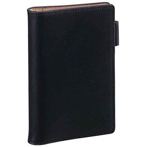 ダ・ヴィンチグランデ アースレザー ポケットサイズシステム手帳 リング11mm JDP805 B [ブラック]