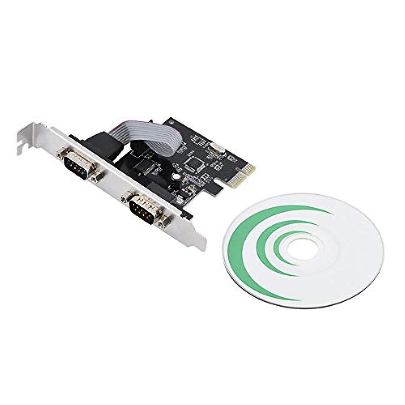 財団汚染された召喚するasixx PCI - E toシリアルカード, PCI - E PCI Express toデュアルシリアルdb9 rs232 2ポートコントローラアダプタカードPCI Express対応仕様リビジョン1.1