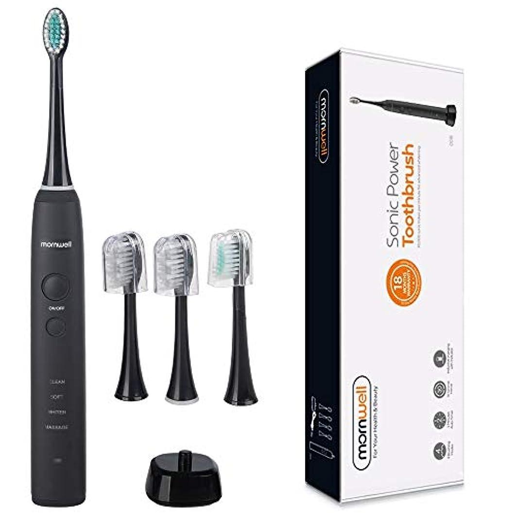 ジェームズダイソン直感付けるYPZHEN IPX7は再充電可能な大人の音波パルス電動歯ブラシ、米国のプラグを防水します (色 : Black)