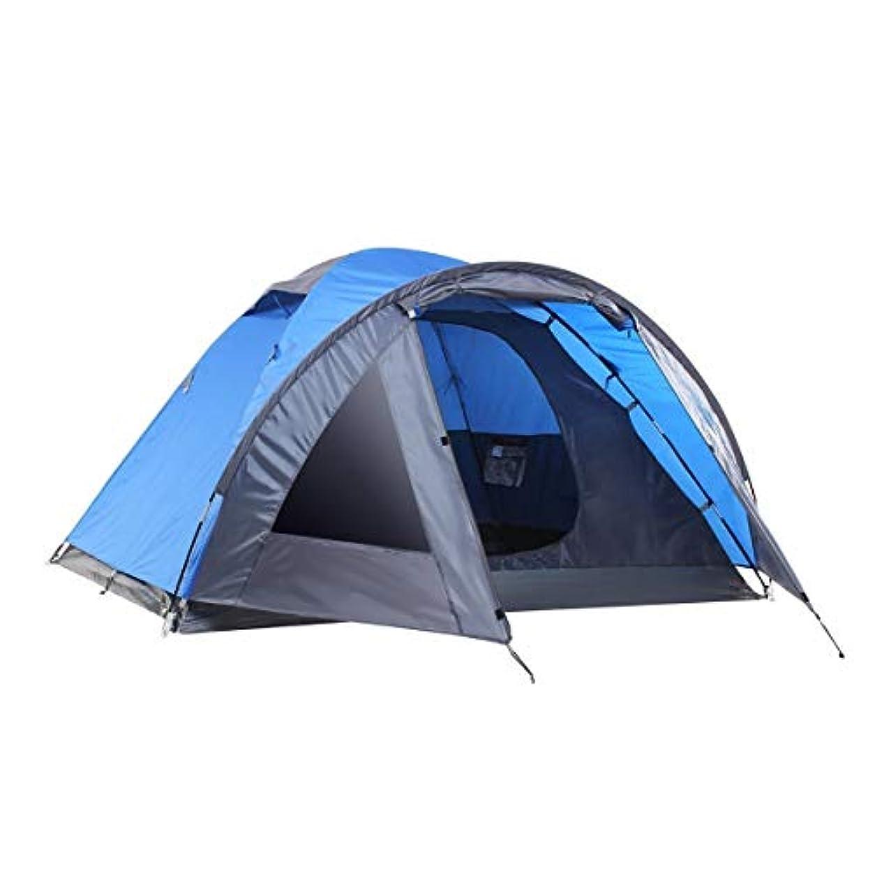 肥満禁輸盗難SEMOO Camping Tent 3-4 Person 4-Season Double Layer Lightweight Traveling Tent with Carry Bag [並行輸入品]